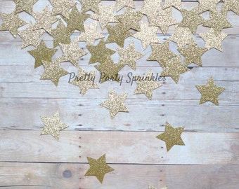 Gold Star Confetti Glitter Table Decorations, Graduation, Gender Reveal Twinkle Twinkle Little Baby Shower, Wish Upon A Star Galaxy Party