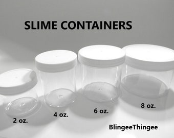 Slime Containers 4 Oz Etsy