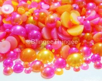 Beads & Jewelry Making Jewelry & Accessories Purple Ab Half Round Bead Mix Sizes 2mm 3mm 4mm 5mm 6mm 8 10mm Imitation Flat Back Pearl For Nail Jewelry Accessory Available In Various Designs And Specifications For Your Selection