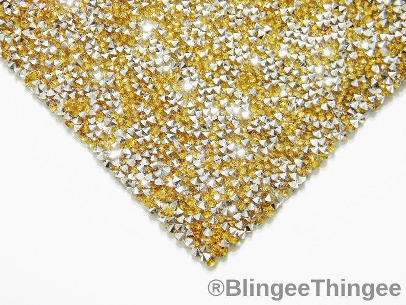 Strass Steine Hotfix Rhinestones 1440 Stück GOLD Ø4mm