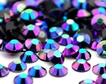 1000 5mm Montana Blue AB Flatback Resin Rhinestones ss20 High Quality 14 Facets Multi Faceted DIY Deco Bling