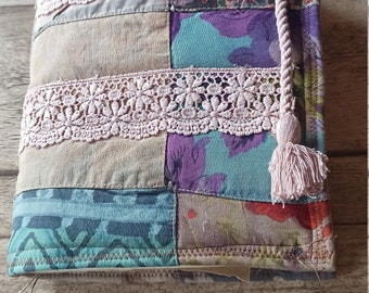 Junk Journal with Quilt cover size: 22,5 x 17 cm