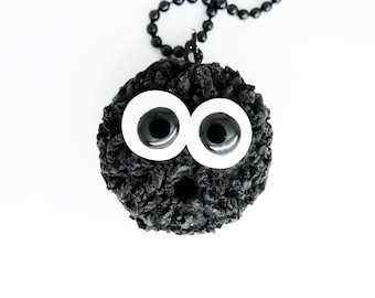 black spot charm necklace
