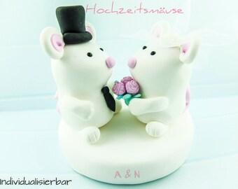 Hauts de forme de gâteau de mariage de couple souris *