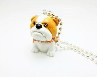english bulldog charm necklace
