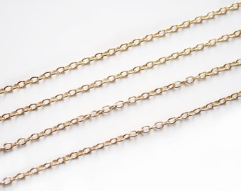 10m link chain 2,2 x 1,8 mm rose gold