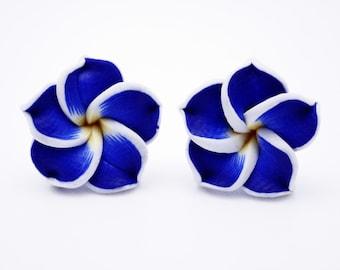 Frangipani earring studs