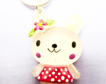 Mitzy bear necklace