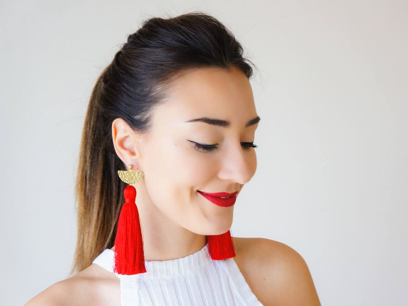 f2bab4e8f Christmas Wear Christmas Trends Christmas Outfit Red Earrings