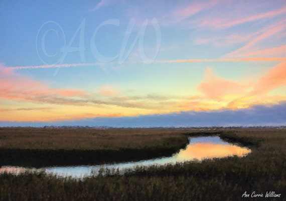 Tidal Creek at Dawn, South Carolina  (canvas)