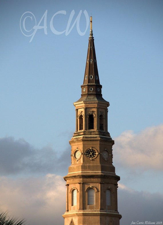 St Phillips Steeple in Charleston,South Carolina (PR) (canvas)