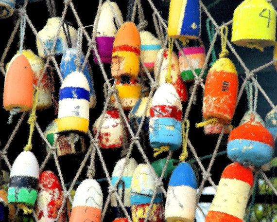 Colorful Buoys - Needlepoint / Cross Stitch Pattern