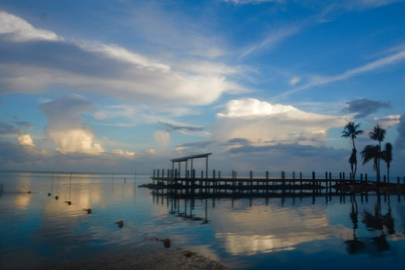Blue Dawn over Florida Pier (canvas)