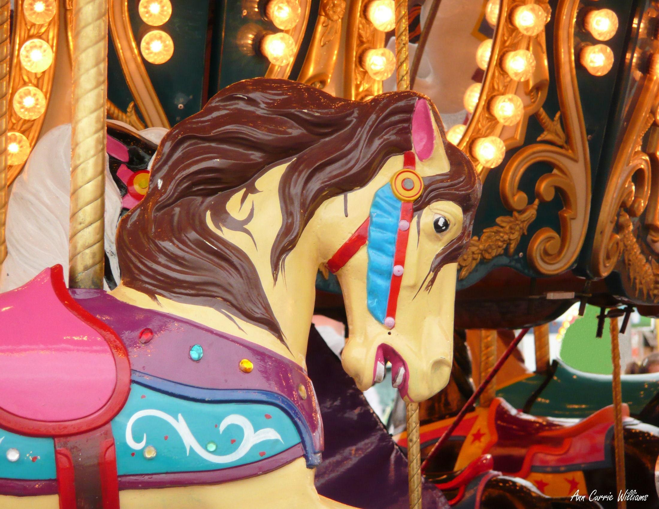 Carousel Horse Needlepoint Cross Stitch Pattern
