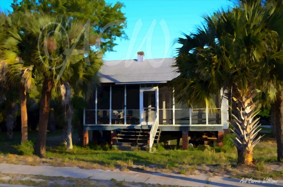 House on Sullivans Island, South Carolina (canvas)