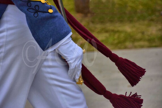 The Swinging Arm and Sash of a Citadel Cadet in Charleston SC