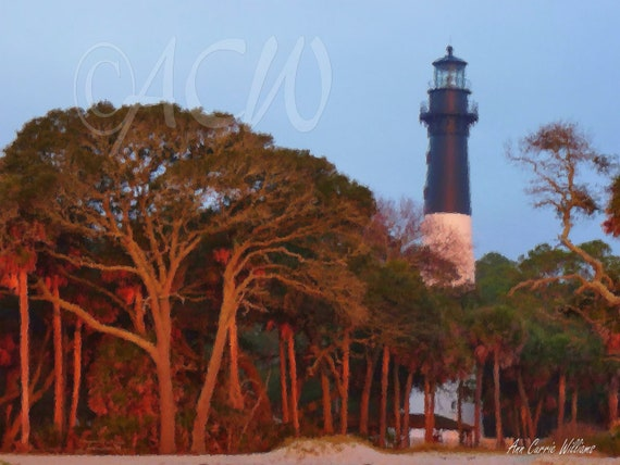 Light house on Hunting  Island, South Carolina (canvas)