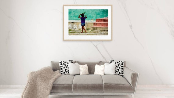 Strolling Little Girl  (16 x20 canvas)