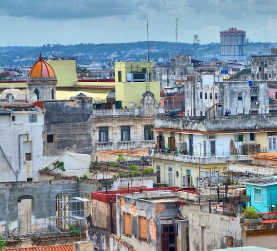 A bird's eye view of Havana Centre Cuba (PR) (canvas)