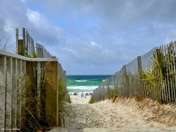 Walkway through the dunes to the beach in Seaside, Florida (16 x 20 canvas)