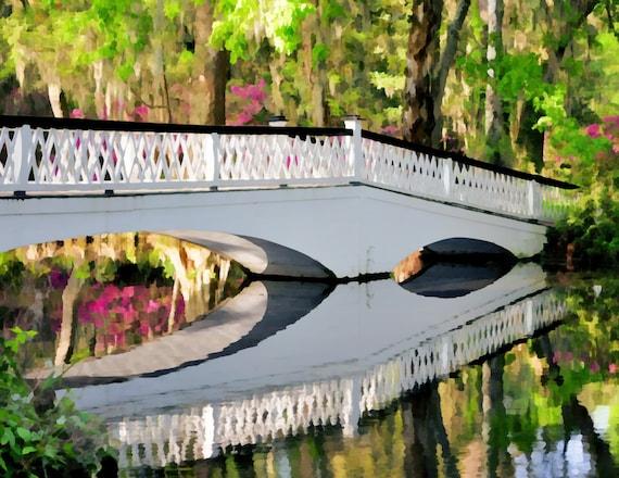 Magnolia Bridge - Needlepoint / Cross Stitch Pattern