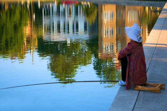 Lady at Colonial Lake - Needlepoint / Cross Stitch Pattern