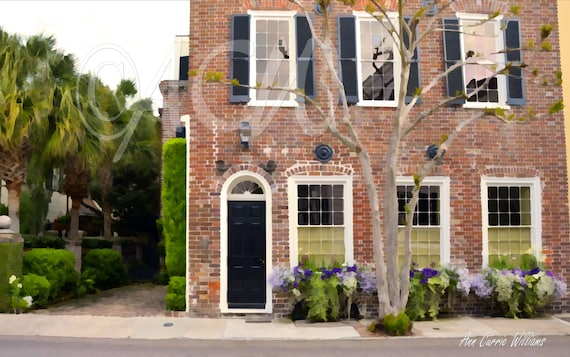 Brick House in historic Charleston,South Carolina (canvas)