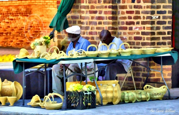 Basket Men in Charleston, South Carolina (canvas)