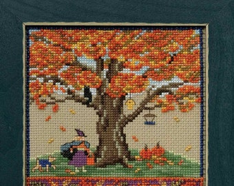 MILL HILL Counted Cross Stitch Beads Kit ST NICK QUARTET A Jolly Old Elf