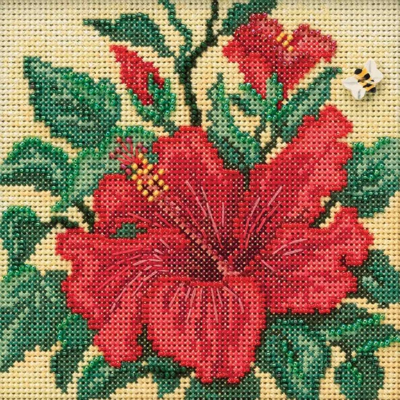 Earth Day Beaded Counted Cross Stitch Kit Mill Hill 2020 Buttons /& Beads Spring MH142015