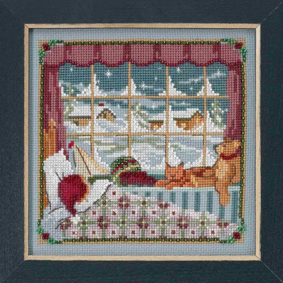 Invisible Snowman Cross Stitch Kit Mill Hill 2016 Winter Holiday MH181635
