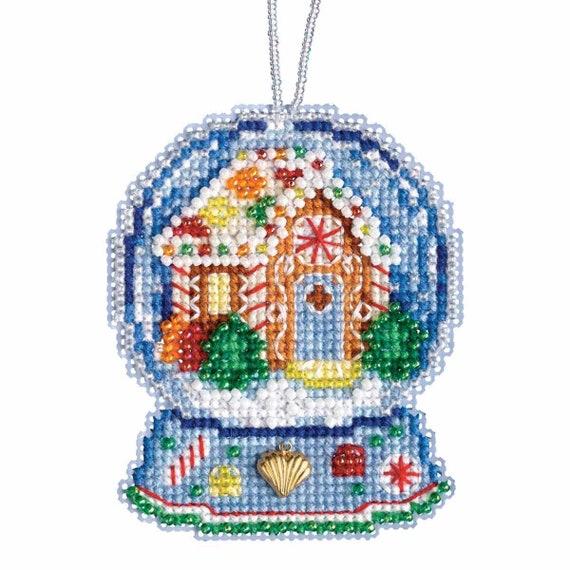 Ireland Santa Beaded Counted Cross Stitch Christmas Ornament Kit Mill Hill 2015 Celtic Santas MH205303