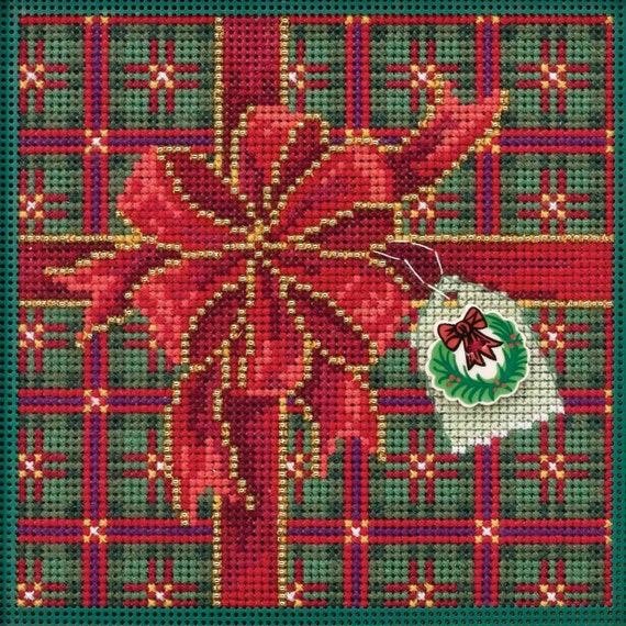 Watermelon Beaded Counted Cross Stitch Ornament Kit Mill Hill 2019 Spring Bouquet MH181914