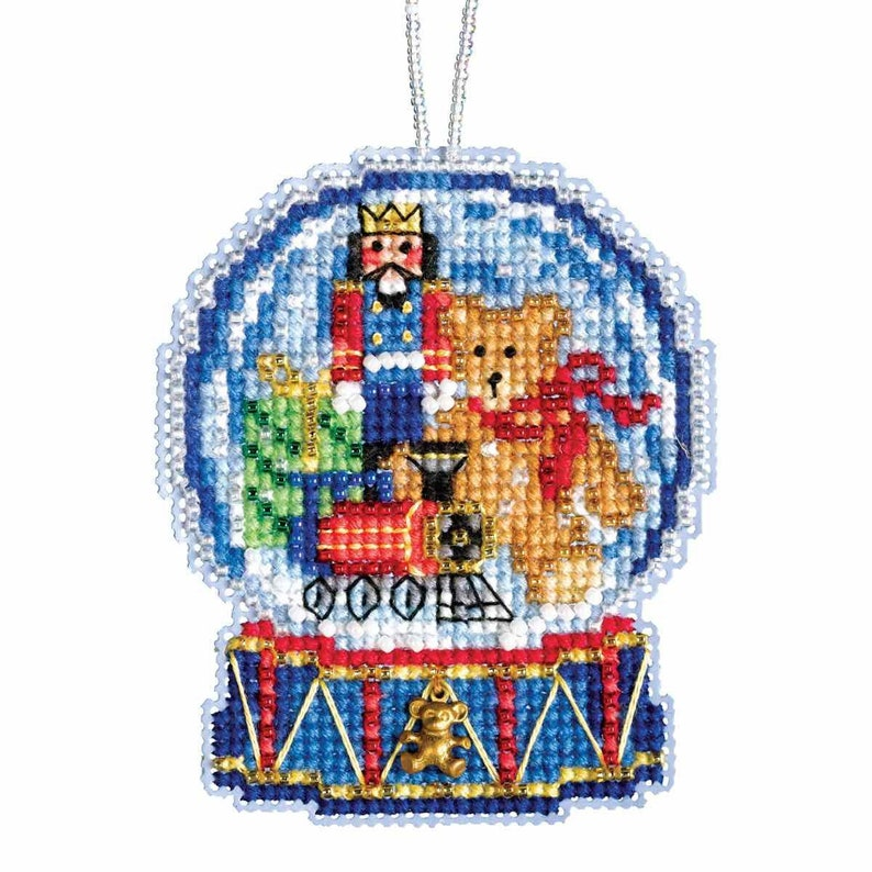 Toy Shop Snow Globe Beaded Counted Cross Stitch Kit Mill Hill 2019 Ornament MH161934