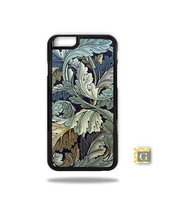 Iphone X Case Galaxy Note 9 Case Iphone 8 Case Galaxy S9 Case Galaxy S8 Case Wallet Phone Case Blue Leaves Antique Wallpaper