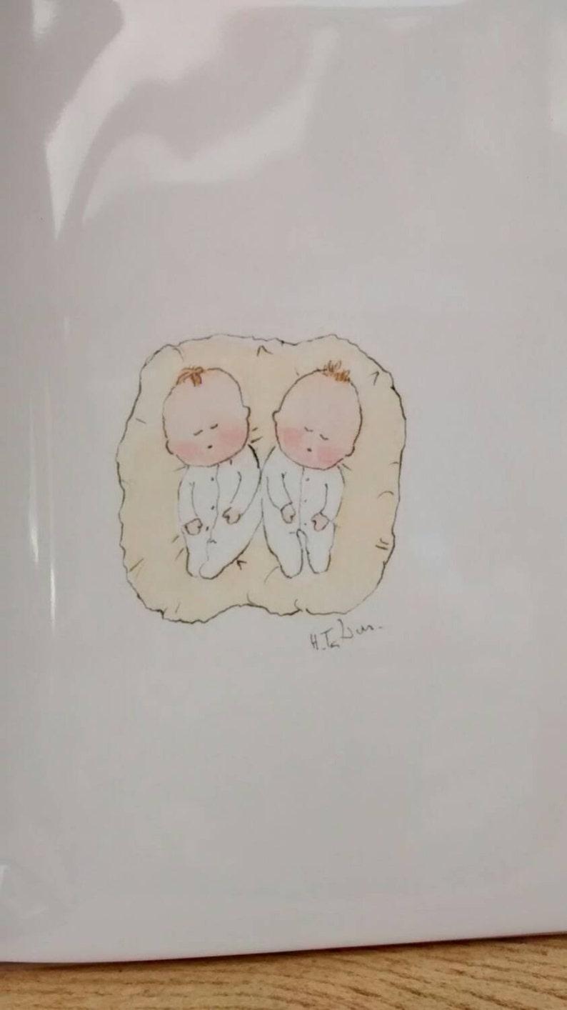card for twins twin congratulations card twin celebration card No141 Twin baby card handmade card for twins twin baby shower newborn twins
