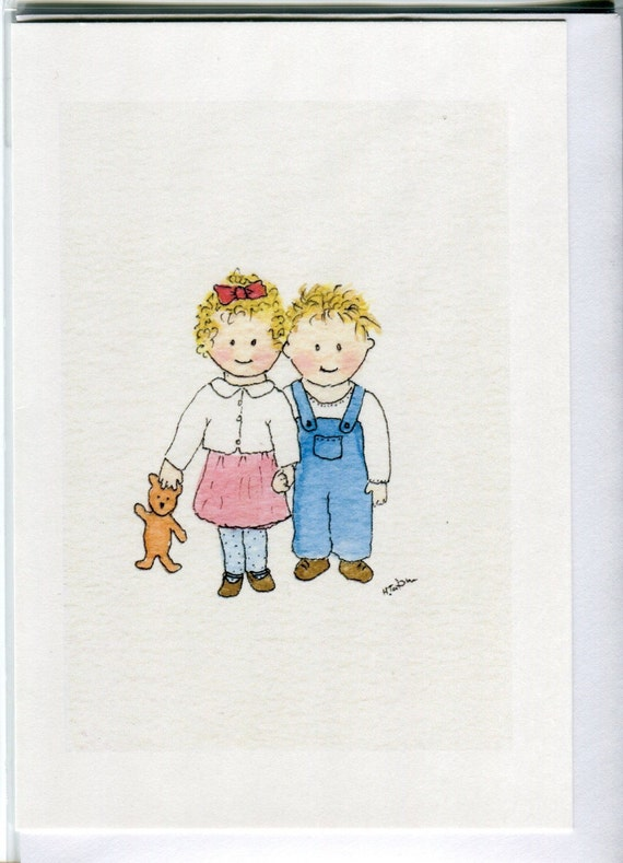 No 113 Childrens Card Brother And Sister Card Sibling Card Etsy