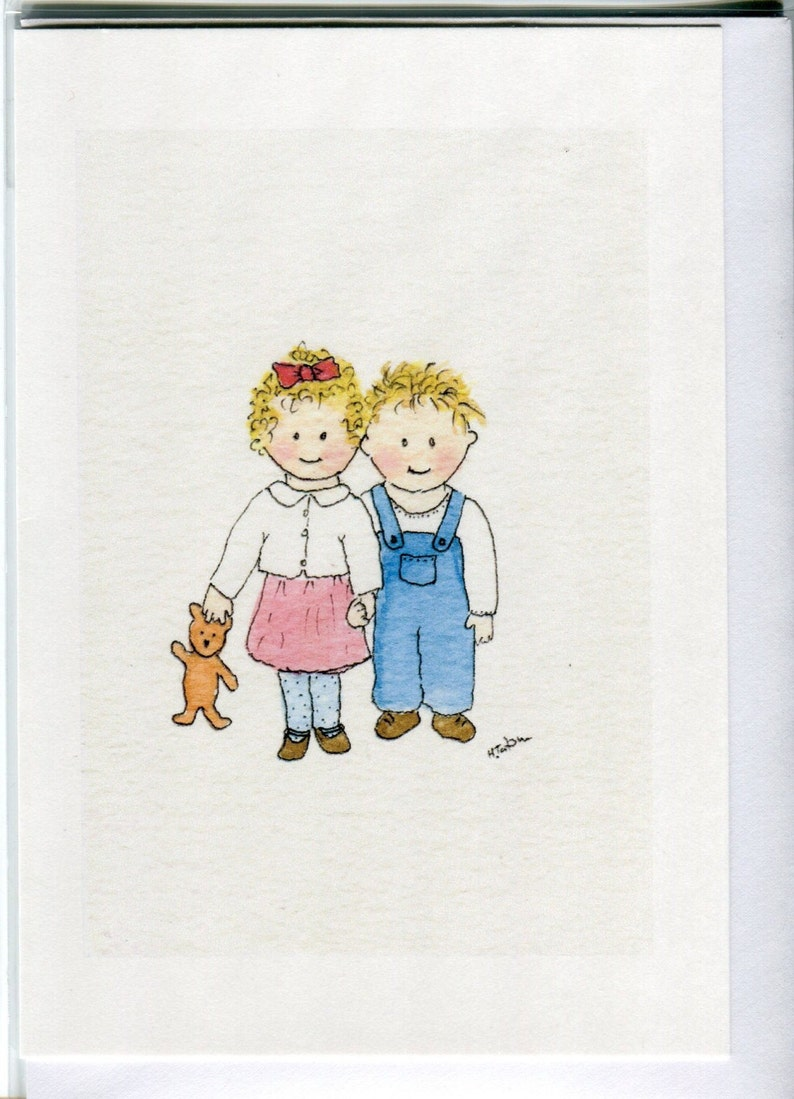 No 113 Childrens Card Brother And Sister Sibling