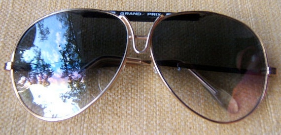 "1980's ""Grand Prix"" Men's or Women's Aviator Sungl"