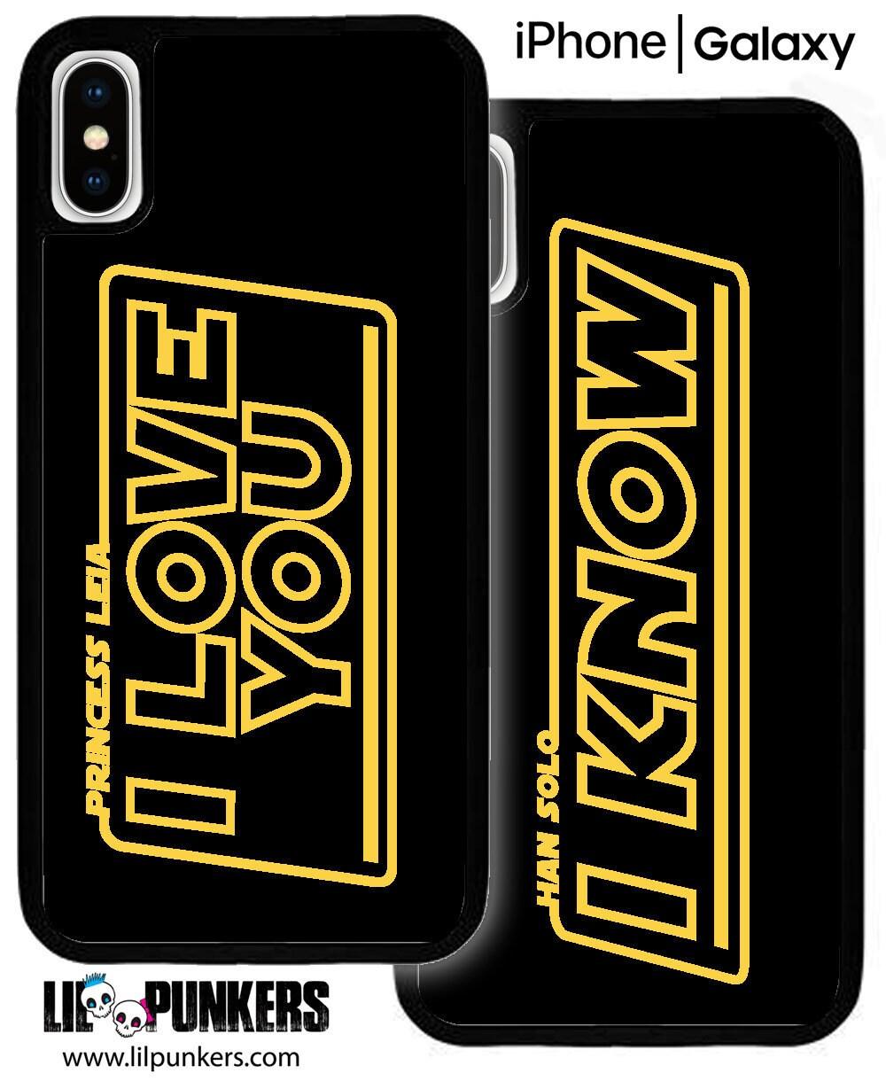 I Love You I Know Han Solo / Princess Leia Matching   Etsy