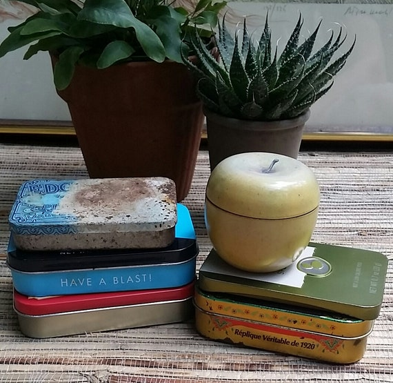 Metal Box Collection For Crafts Collage Storage Art Projects