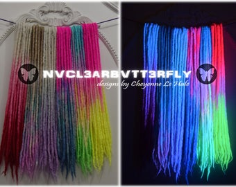 UV Dreads - Individual Locs - Double-Ended - Luxury Blend - Wool/Bamboo/Silk - Felted Wool Dreadlocks