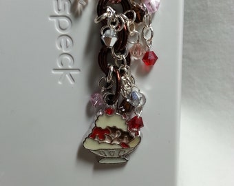 Banana Split Dust plug cell phone charm, cell phone bling, iphone, ipad, ipod, almost any cell phone