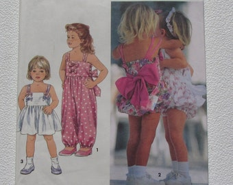 517af4bfa7adf Simplicity 8511 - Adorable Toddler Rompers in Two Lengths