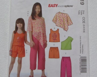 27f9cde1ce3d0 McCall s 4819 - Super Cute Easy Girl s Summer Outfits  Two Tops