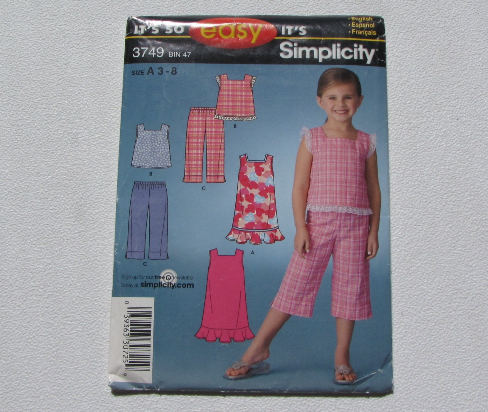 8d5ca15e2079b Simplicity 3749 Super Cute Easy Girl s Summer Outfits