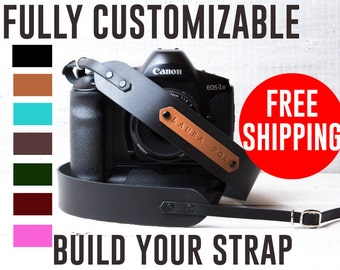 Custom Camera Strap DSLR camera strap Monogram camera strap DSLR strap Canon camera strap Nikon Camera strap