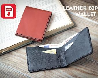 Wallet pattern pdf / Leather Bifold wallet pattern / Mens bifold wallet pattern / Leather wallet pattern pdf /