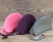 Leather Cosmetic bag Makeup bag Toiletry bag women Zipper pouch Small cosmetic bag Cosmetic pouch Make up bag