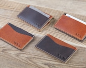 Minimalist leather wallet Leather Personalized credit card holder Card holder Minimalist wallets Credit card wallet Slim wallet Card case